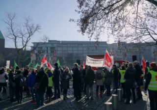 Warnstreik Verdi in Berlin