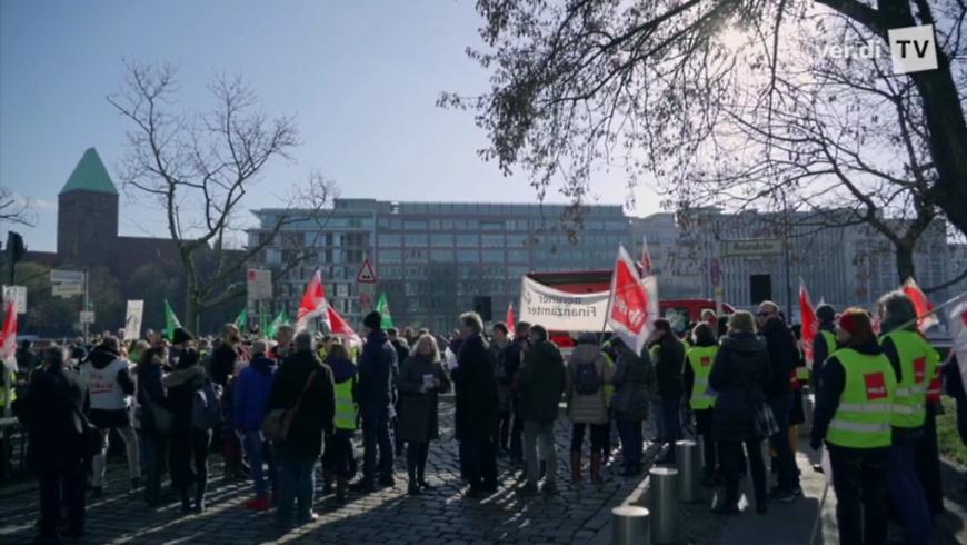 Warnstreik Verdi in Berlin