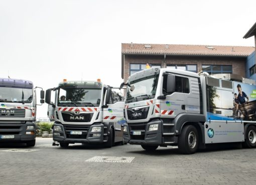 Berliner Wasserbetriebe: LKW mit Abbiegassistent