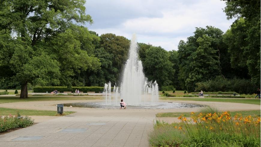 Treptower Park: Springbrunnen