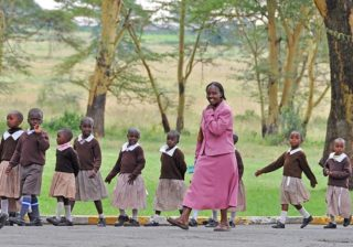 Lehrerin in Kenia