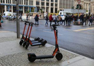 eScooter im öffentlichen Straßenland