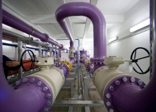 Innenansicht einer Gasdruckregelanlage